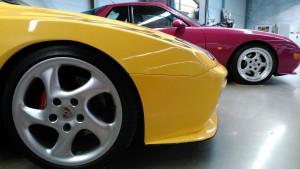 Porsche gelb und pink