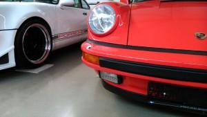 Porsche rot nahaufnahme
